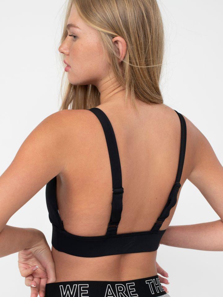 חזיית אימון עם כתפיות אלכסון בגב